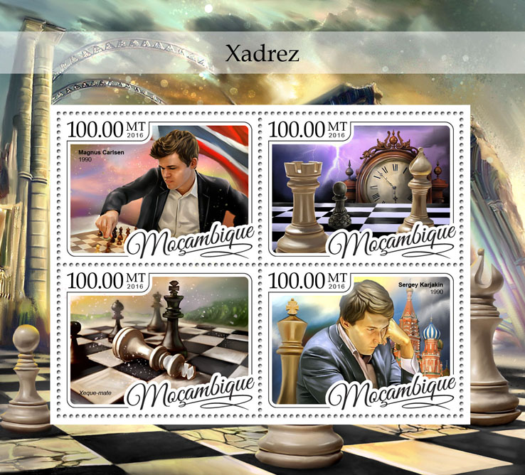 Chess - Issue of Mozambique postage Stamps
