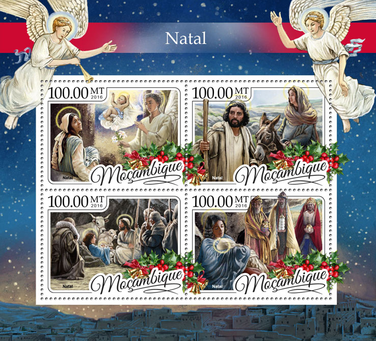 Christmas - Issue of Mozambique postage Stamps