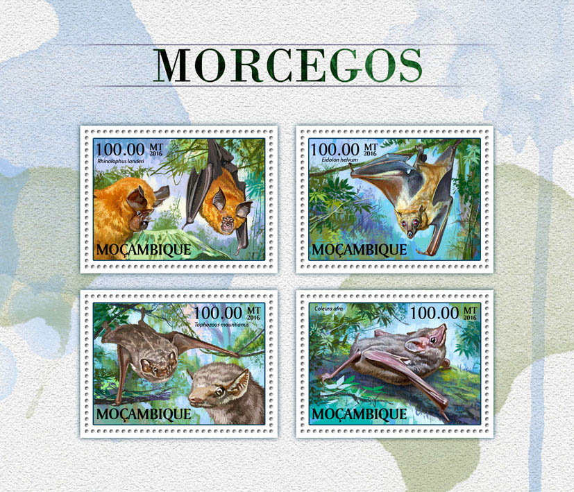 Bats - Issue of Mozambique postage Stamps