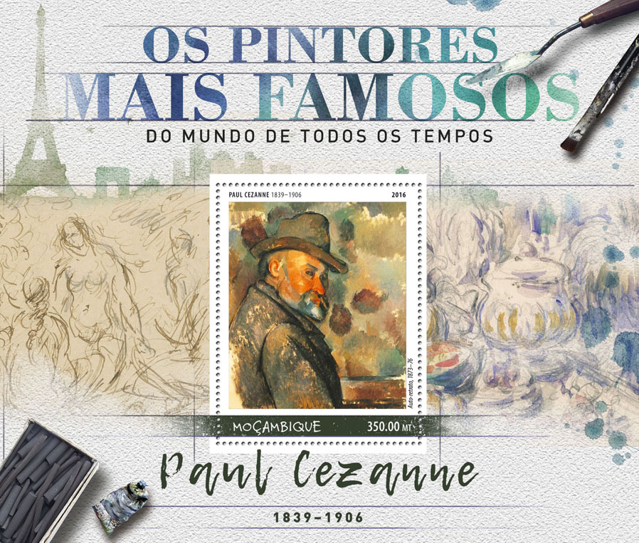 Paul Cézanne - Issue of Mozambique postage Stamps