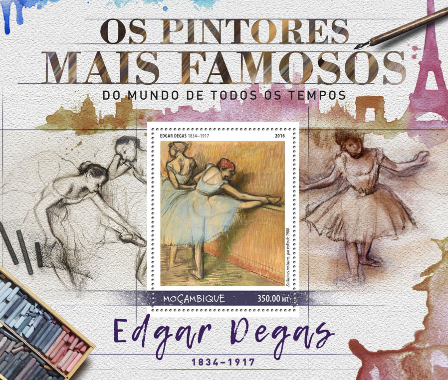 Edgar Degas - Issue of Mozambique postage Stamps