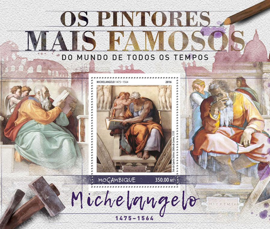Michelangelo - Issue of Mozambique postage Stamps