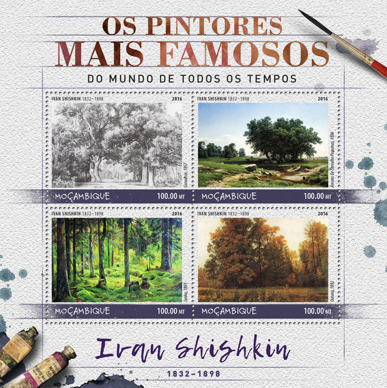 Ivan Shishkin - Issue of Mozambique postage Stamps