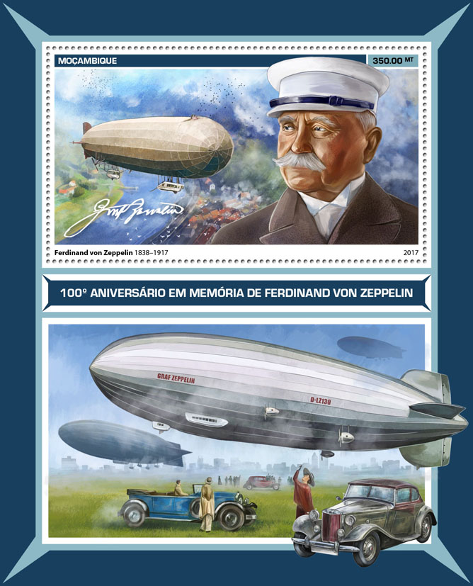 Zeppelin - Issue of Mozambique postage Stamps