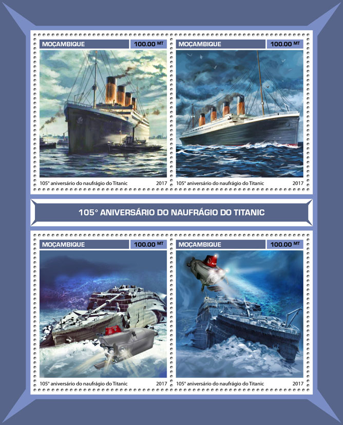 Titanic - Issue of Mozambique postage Stamps