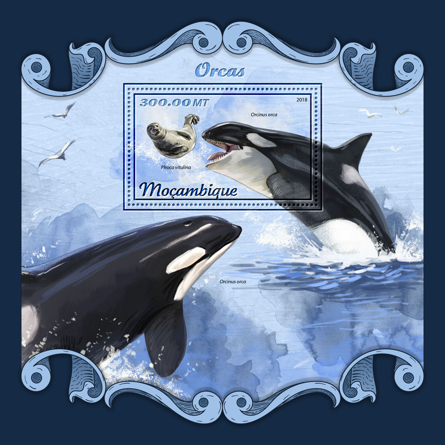 Orcas - Issue of Mozambique postage Stamps
