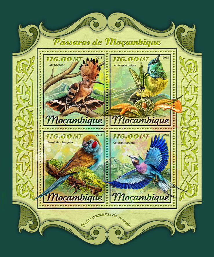 Birds of Mozambique - Issue of Mozambique postage Stamps