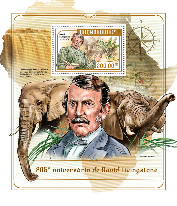 David Livingstone - Issue of Mozambique postage Stamps