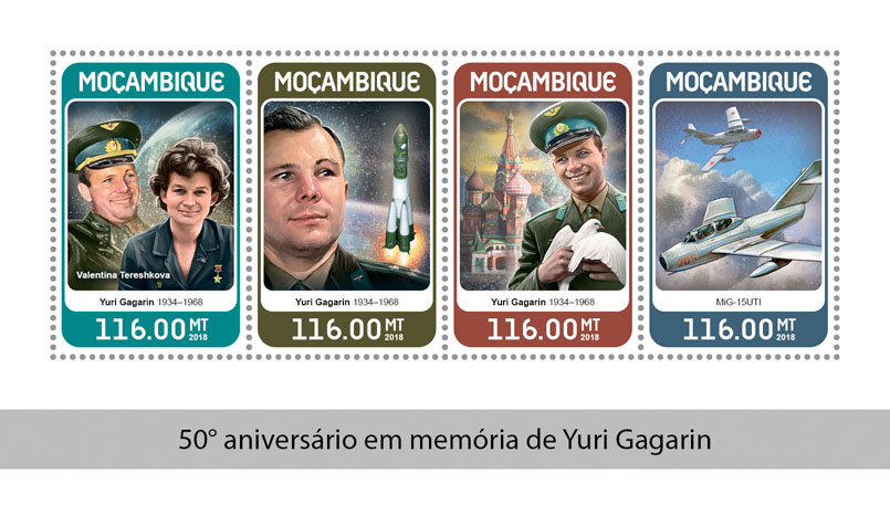 Yuri Gagarin - Issue of Mozambique postage Stamps