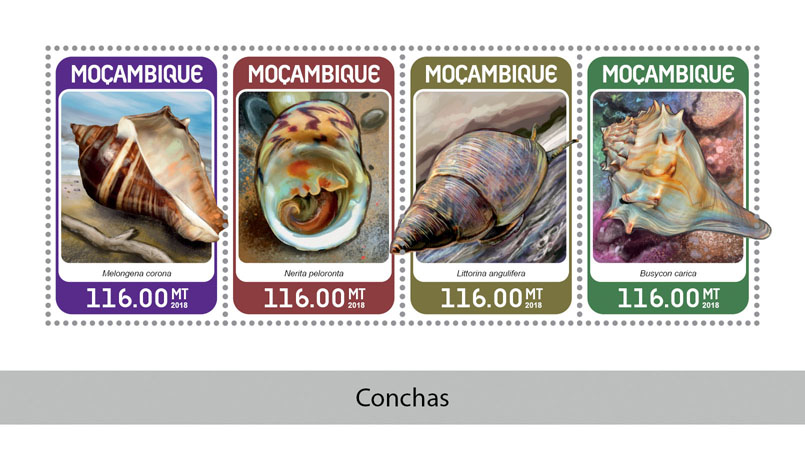 Shells - Issue of Mozambique postage Stamps
