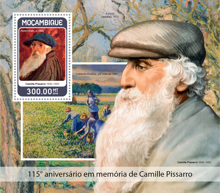 Camille Pissarro - Issue of Mozambique postage Stamps