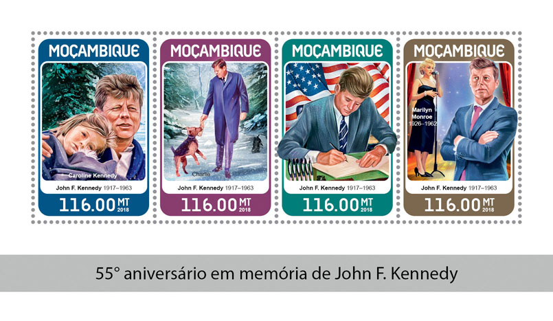 John F. Kennedy - Issue of Mozambique postage Stamps