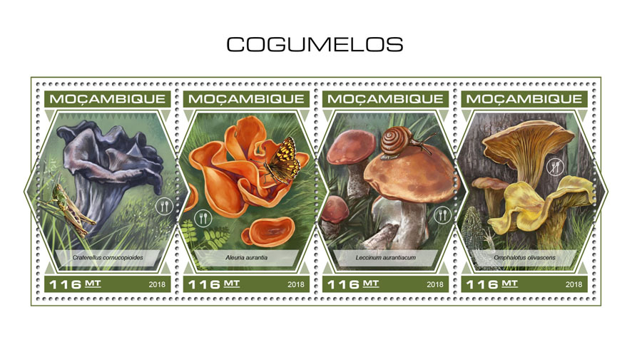 Mushrooms - Issue of Mozambique postage Stamps