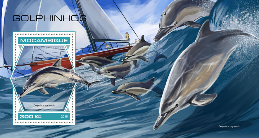 Dolphins - Issue of Mozambique postage Stamps