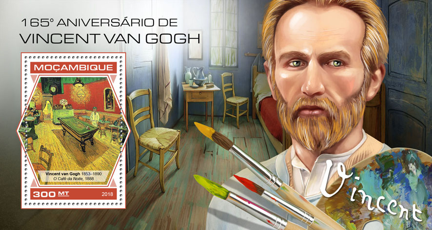 Vincent van Gogh - Issue of Mozambique postage Stamps