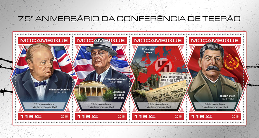 Tehran Conference - Issue of Mozambique postage Stamps