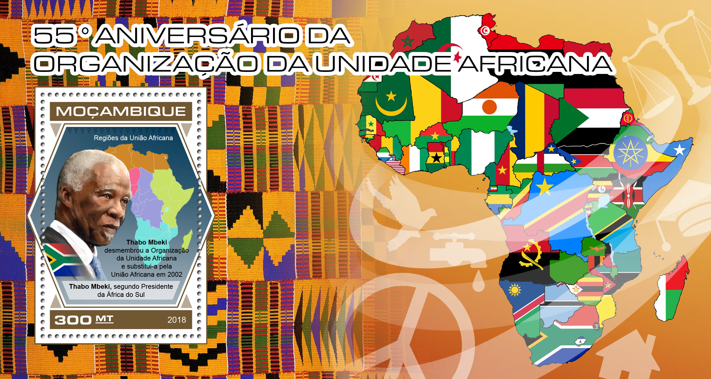 Organization of African Unity - Issue of Mozambique postage Stamps
