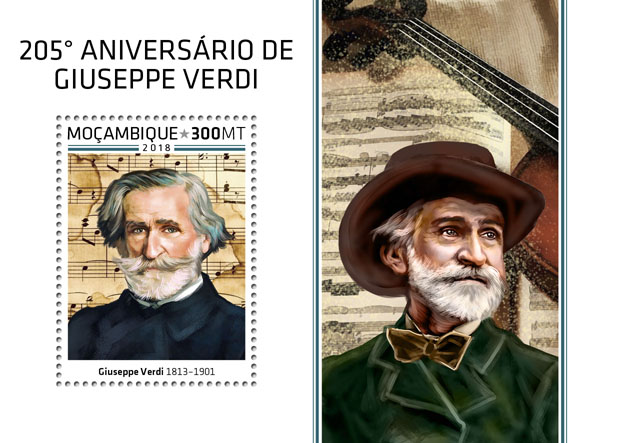 Giuseppe Verdi - Issue of Mozambique postage Stamps