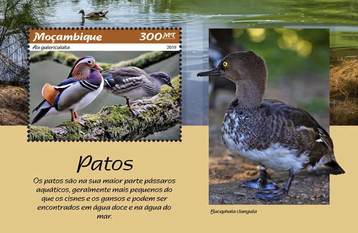 Ducks - Issue of Mozambique postage Stamps