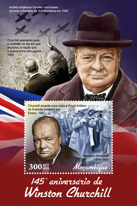 Winston Churchill - Issue of Mozambique postage Stamps