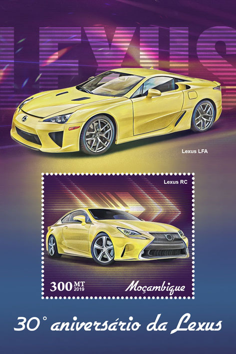 Lexus - Issue of Mozambique postage Stamps