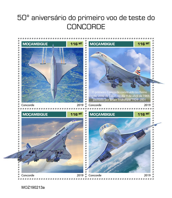 Concorde - Issue of Mozambique postage Stamps