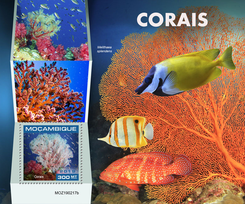 Corals - Issue of Mozambique postage Stamps