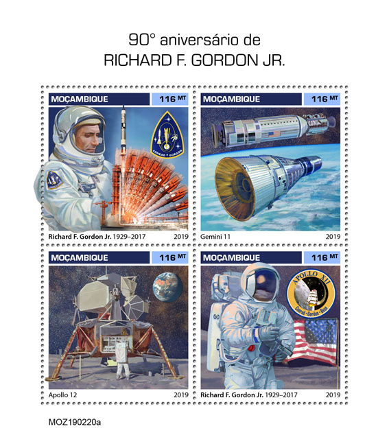 Richard F. Gordon Jr. - Issue of Mozambique postage Stamps