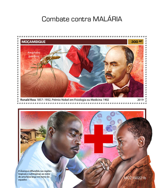Malaria - Issue of Mozambique postage Stamps