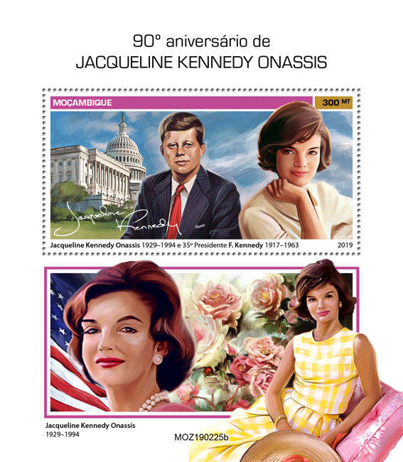 Jacqueline Kennedy Onassis - Issue of Mozambique postage Stamps