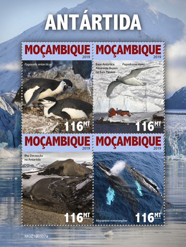 Antarctica - Issue of Mozambique postage Stamps