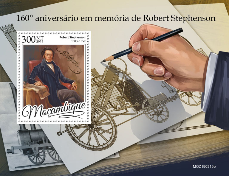 Robert Stephenson - Issue of Mozambique postage Stamps