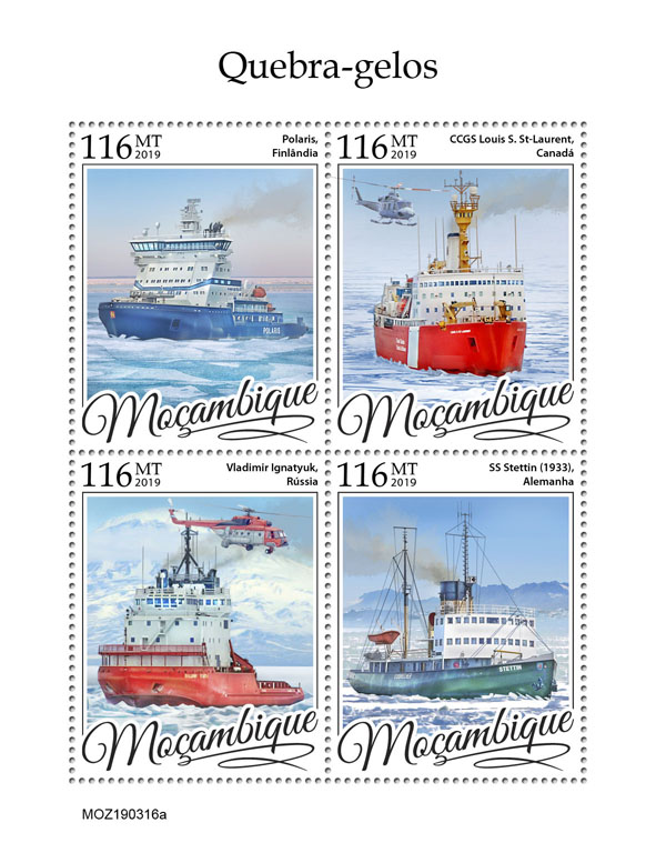 Icebreakers - Issue of Mozambique postage Stamps