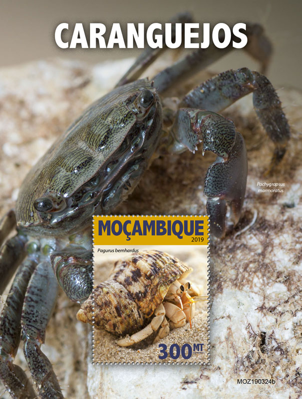 Crabs - Issue of Mozambique postage Stamps