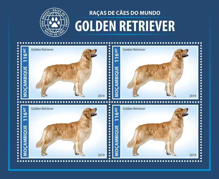 Dog breeds - Issue of Mozambique postage Stamps