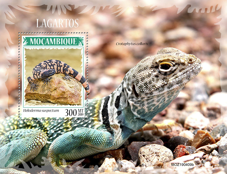 Lizards - Issue of Mozambique postage Stamps