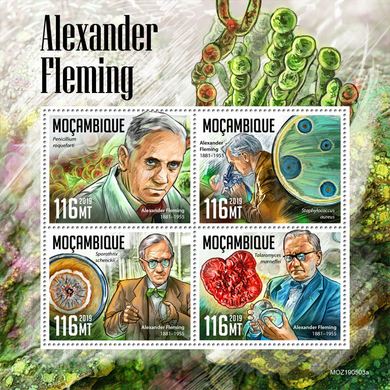 Alexander Fleming - Issue of Mozambique postage Stamps