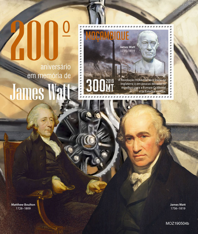 James Watt - Issue of Mozambique postage Stamps