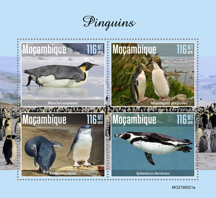 Penguins - Issue of Mozambique postage Stamps