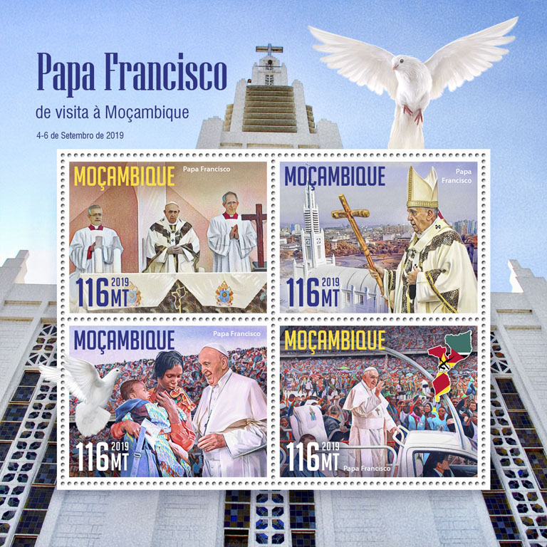 Pope Francis visit to Mozambique - Issue of Mozambique postage Stamps